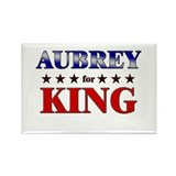 AUBREY for king Rectangle Magnet