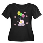 It's A Girl Women's Plus Size Scoop Neck Dark T-Sh