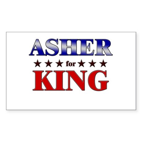 ASHER for king Rectangle Sticker