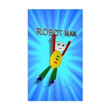 Robot Man Rectangle Decal