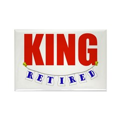 Retired King Rectangle Magnet (100 pack)