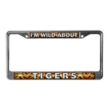 Fur Pattern Tiger License Plate Frame