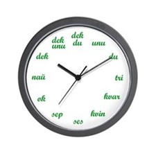 Esperanto Wall Clock