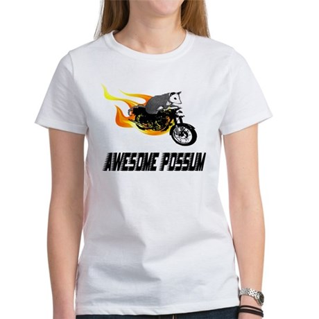 Flaming Awesome Possum Women's T-Shirt
