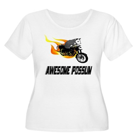 Flaming Awesome Possum Women's Plus Size Scoop Nec