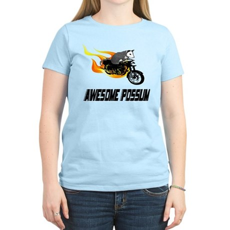 Flaming Awesome Possum Women's Light T-Shirt