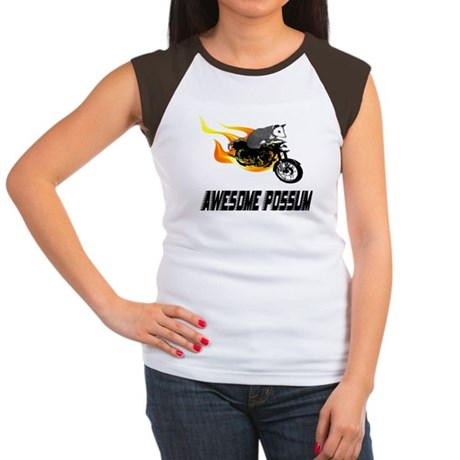 Flaming Awesome Possum Women's Cap Sleeve T-Shirt
