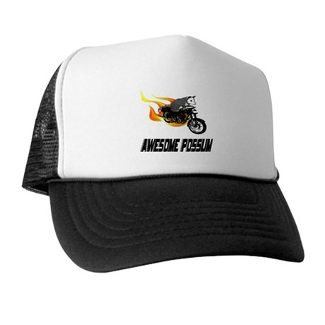 Flaming Awesome Possum Trucker Hat