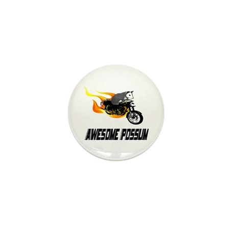 Flaming Awesome Possum Mini Button (100 pack)