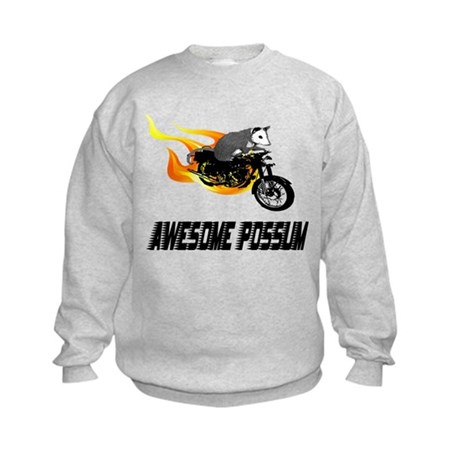 Flaming Awesome Possum Kids Sweatshirt