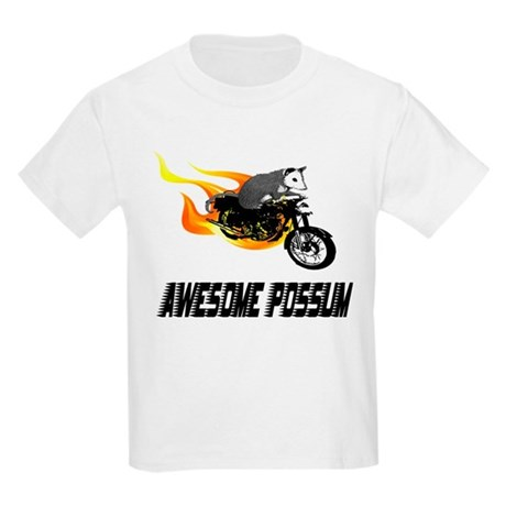 Flaming Awesome Possum Kids Light T-Shirt