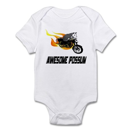 Flaming Awesome Possum Infant Bodysuit