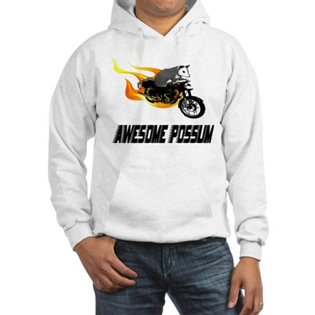 Flaming Awesome Possum Hooded Sweatshirt