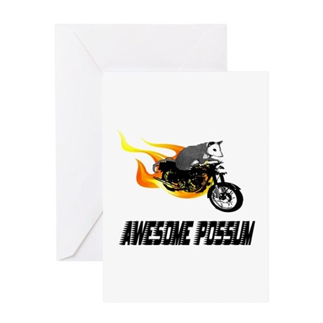 Flaming Awesome Possum Greeting Card