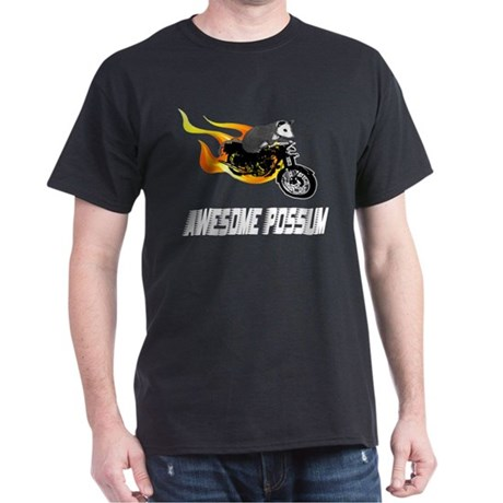 Flaming Awesome Possum Dark T-Shirt