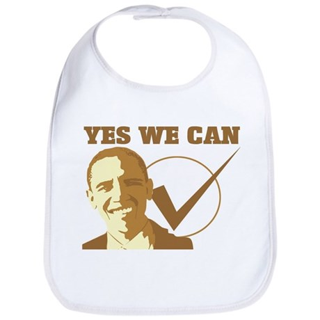 Yes We Can (vote Obama) Bib