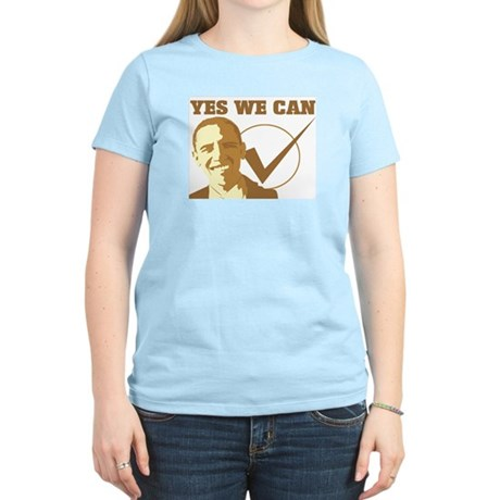 Yes We Can (vote Obama) Womens Light T-Shirt