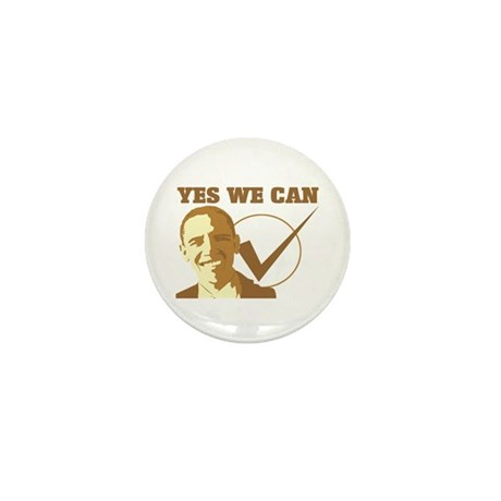 Yes We Can (vote Obama) Mini Button