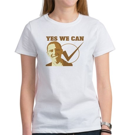 Yes We Can (vote Obama) Womens T-Shirt