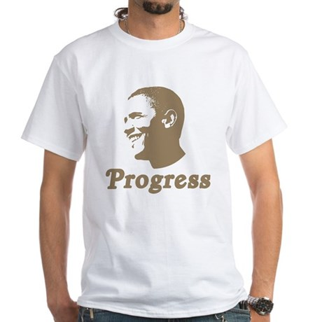 Obama for Progress White T-Shirt