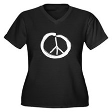 EnsoPeace Women's Plus Size V-Neck Dark T-Shirt