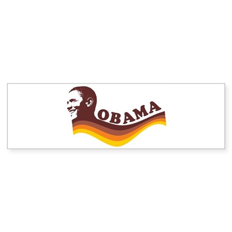 Barack Obama (brown retro) Bumper Sticker