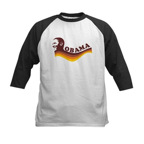 Barack Obama (brown retro) Kids Baseball Jersey