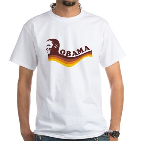 Barack Obama (brown retro) White T-Shirt