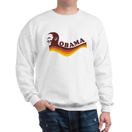 Barack Obama (brown retro) Sweatshirt