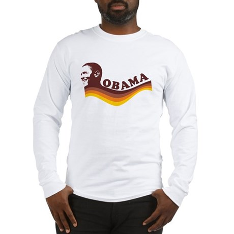 Barack Obama (brown retro) Long Sleeve T-Shirt
