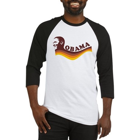 Barack Obama (brown retro) Baseball Jersey