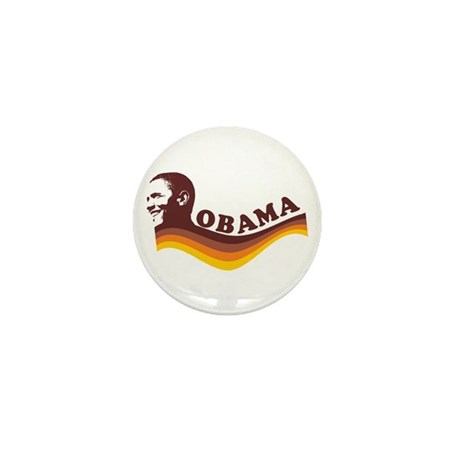 Barack Obama (brown retro) Mini Button