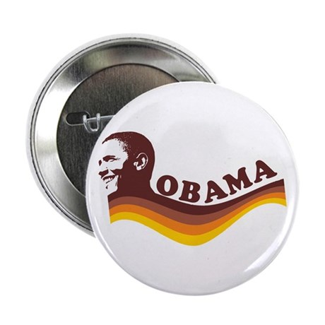 "Barack Obama (brown retro) 2.25"" Button"