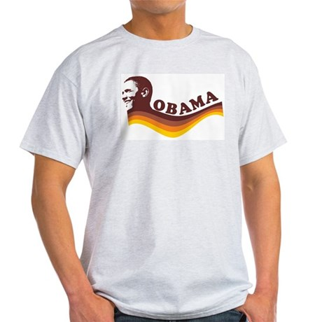 Barack Obama (brown retro) Light T-Shirt