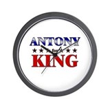 ANTONY for king Wall Clock