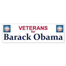 Vets for Obama Bumper Bumper Sticker