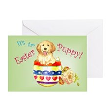 Easter Golden Retriever Greeting Card