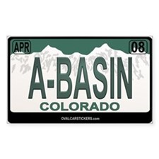 A-Basin Plate Rectangle Decal
