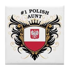 Number One Polish Aunt Tile Coaster