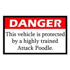 Attack Poodle Decal