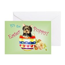 Easter Yorkie Greeting Cards (Pk of 10)