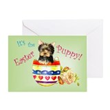 Easter Yorkie Greeting Card