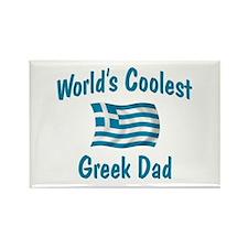 Coolest Greek Dad Rectangle Magnet