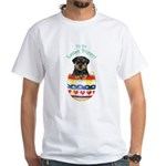 Easter Rottweiler White T-Shirt