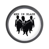 Men in Black Plain Wall Clock