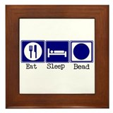 Eat, Sleep, Bead Framed Tile