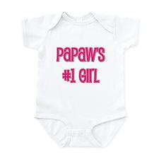 Papaw's #1 Girl Infant Bodysuit