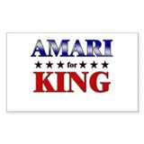 AMARI for king Rectangle Bumper Stickers