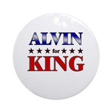 ALVIN for king Ornament (Round)