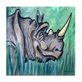Unique Rhinoceros Tile Coaster